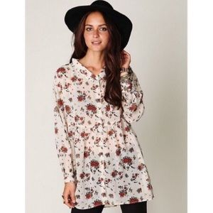 free people • oversized sheer button down tunic